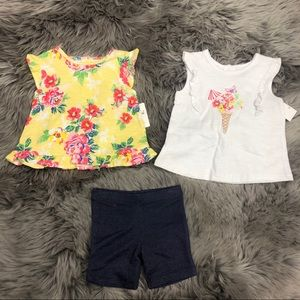 Little Me | Girls 3 Piece Summer Set | Size 12M